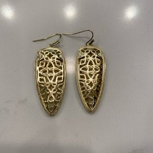Kendra Scott Gold Filigree Earrings